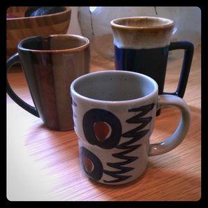 Eclectic ceramic mug set (includes all three)